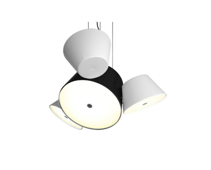 Marset - TAM TAM Mini-Leuchte  - Satellitenschirme weiß - Mittelschirm schwarz - 4