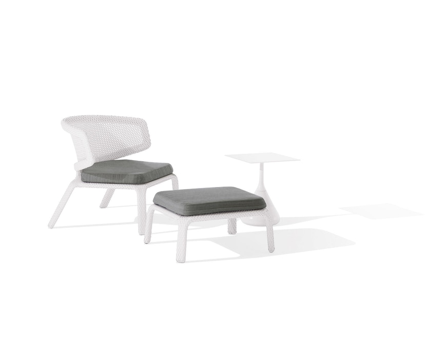 Dedon - Seashell Lounge Stuhl - chalk - 4