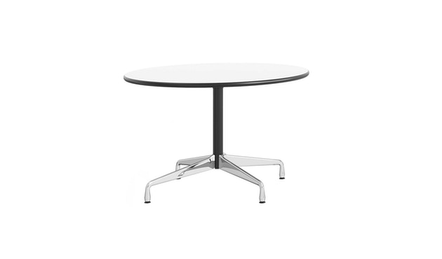 Vitra - Eames Segmented Table rund - Ø110 cm - Ausleger chrom, Standrohr basic dark - 1