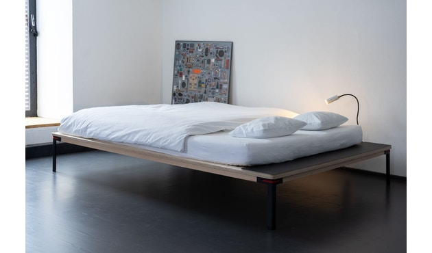 Moormann - Seiltänzer Bett - 140 x 200 cm - Seil rot - rot - 5