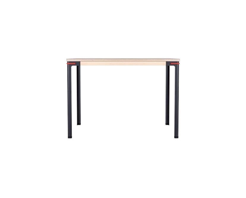 Moormann - Seiltänzer Tisch - Laminat weiß rotes Seil - 90 x 90 - 4
