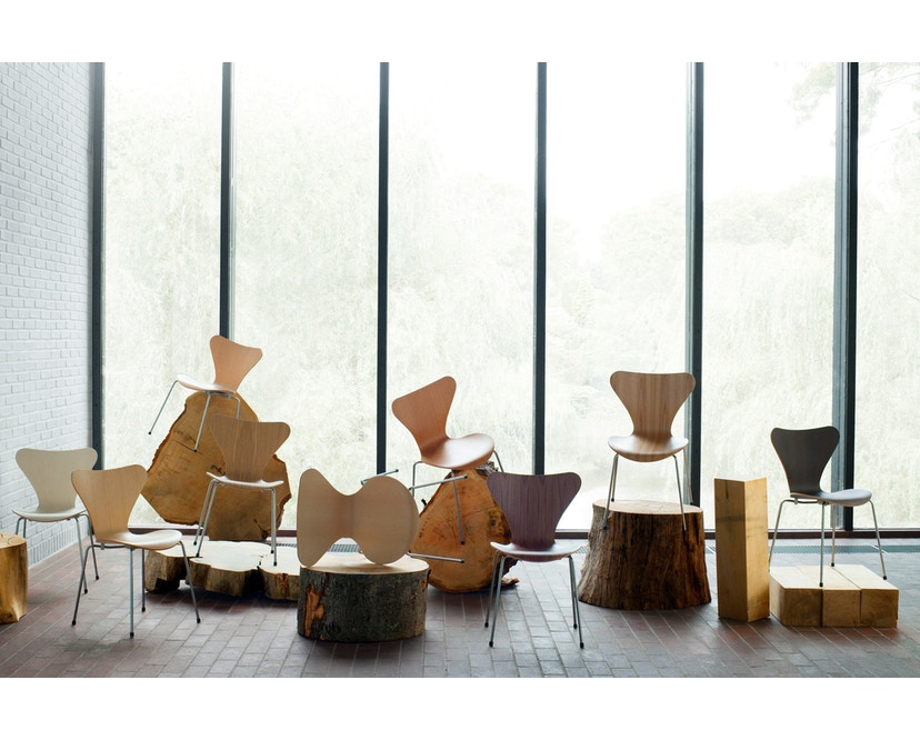 Fritz Hansen - Serie Sieben 3107 - Holzfarben - 3
