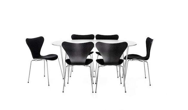 Fritz Hansen - Collection Sieben 3107 - vernis - verni noir - 4