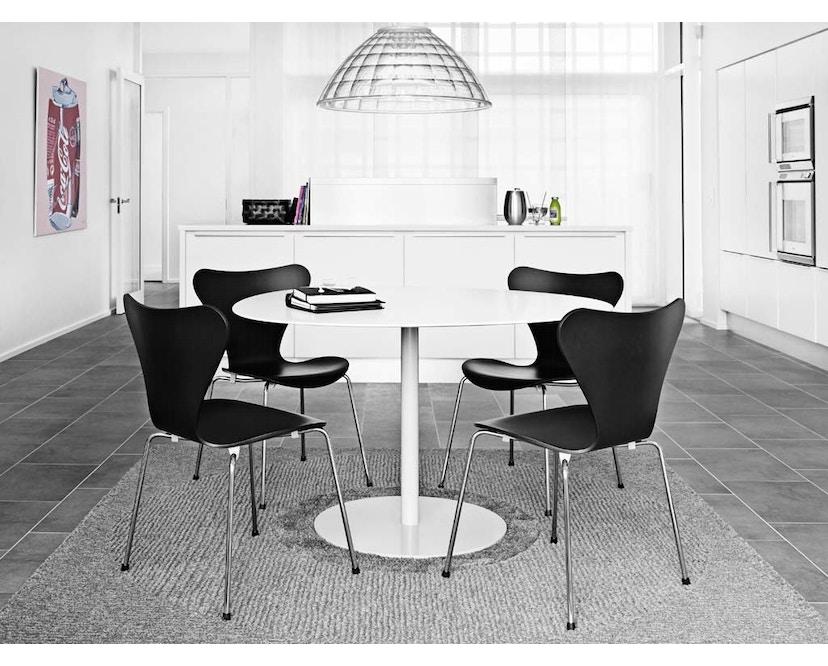 Fritz Hansen - Collection Sieben 3107 - vernis - verni noir - 6