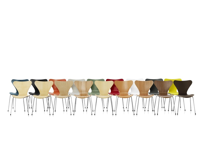 Fritz Hansen - Série Sieben 3107 - couleur bois - Noyer - 4