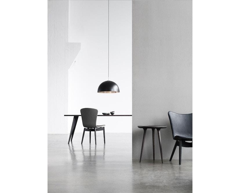 Mater - Shell Lounge Stuhl - Sitz schwarz - Gestell Eiche schwarz - 2