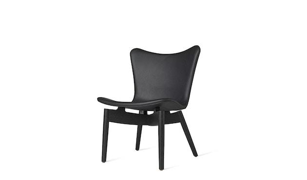 Mater - Shell Lounge Stuhl - Sitz schwarz - Gestell Eiche schwarz - 1