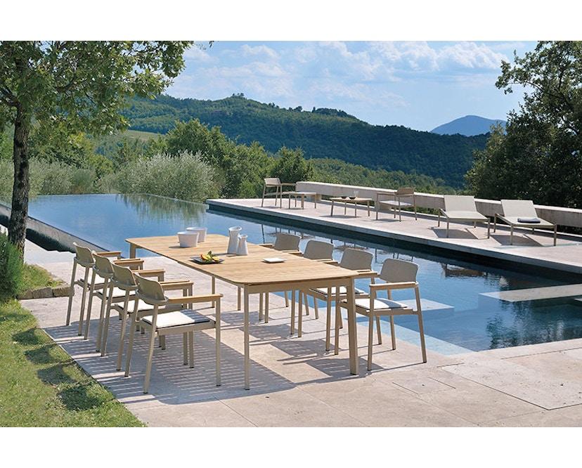 Emu - Shine Tisch - Tischplatte Teak - S - Gestell weiß - 3