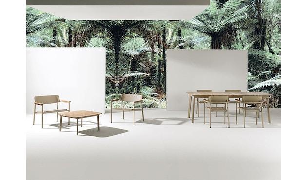 Emu - Shine Tisch - Tischplatte Teak - S - Gestell weiß - 4