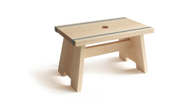 SIDE by SIDE - Fußschemel Little Stool - blaugrau - 1