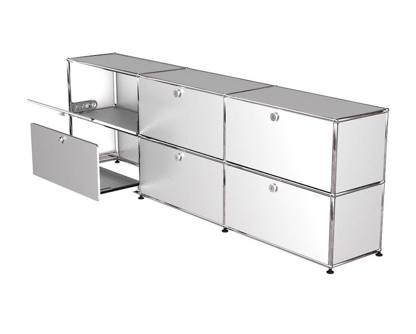 USM Haller - Sideboard L - 3 Klappen und Auszüge - weiß - 1