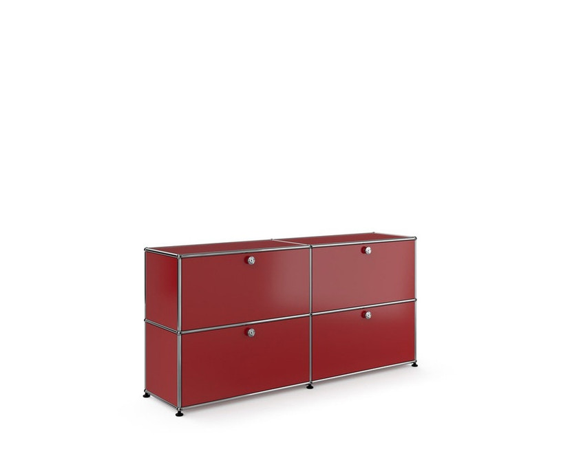 USM Haller - Sideboard M - 4 battants - 23 rouge rubis - 3