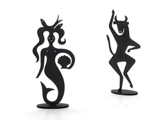 Silhouettes decoratieve figuren