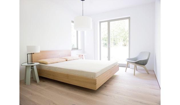 Zeitraum - Simple Hi Bett - Esche - 100 x 200 cm - Höhe Kopfteil 67 cm - 4