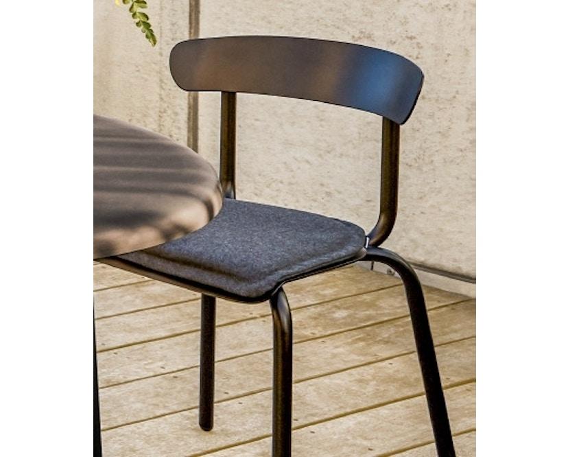 Conmoto - ALU MITO Auflage für Stuhl - anthrazit - 2