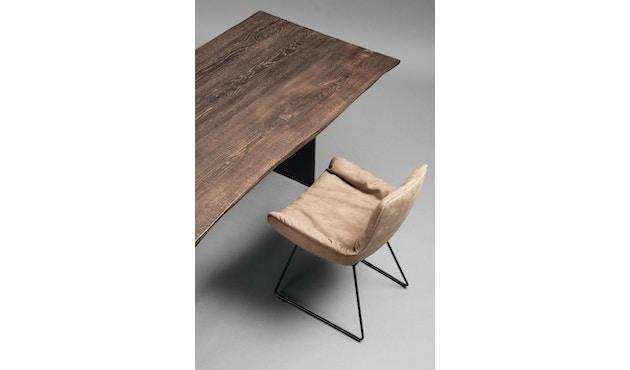 Janua - SK 04 Komposit tafel - 180 cm - Eiken gekoold/ gekalkt - Ruw staal, natuur gelakt - 90 cm - 4