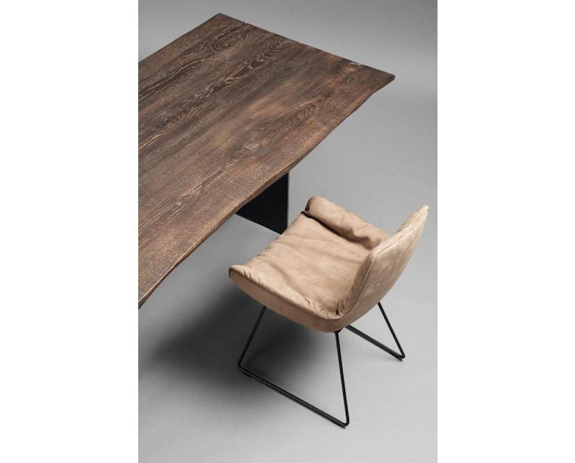 Janua - SK 04 Komposit Tisch - Eiche geköhlt/ gekalkt (Ton grau) - 180x90 - Gestell Rohstahl natur - 4
