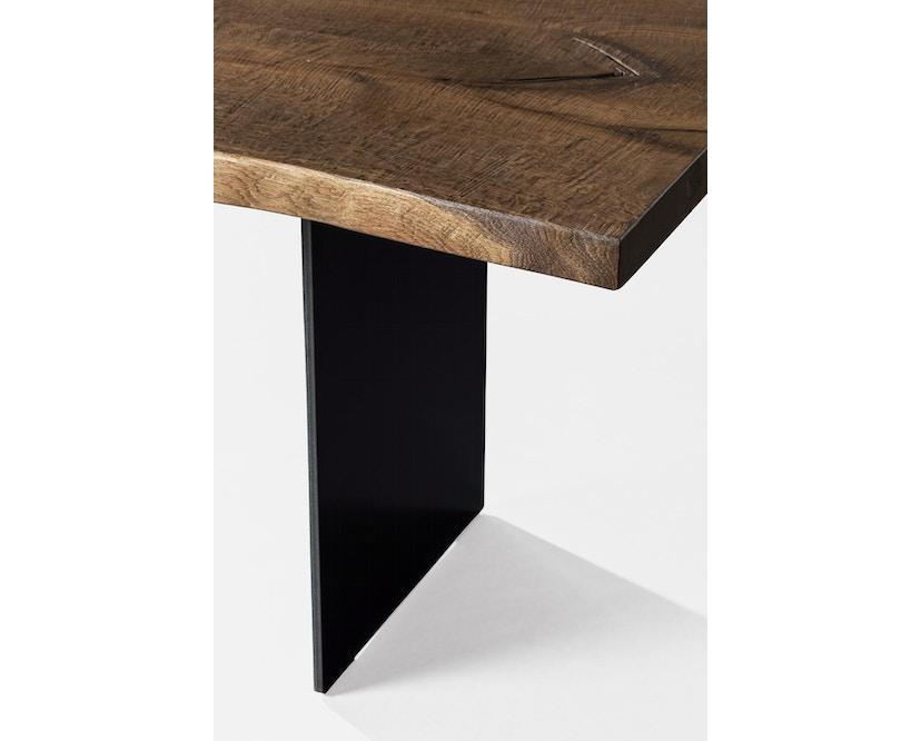 Janua - SK 04 Komposit tafel - 180 cm - Eiken gekoold/ gekalkt - Ruw staal, natuur gelakt - 90 cm - 5