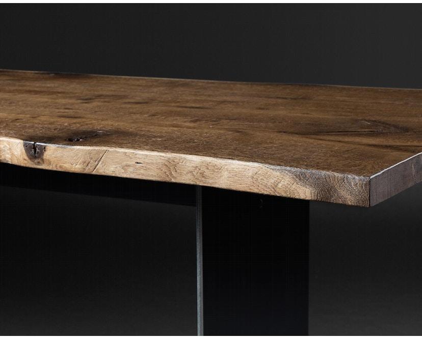Janua - SK 04 Komposit tafel - 180 cm - Eiken gekoold/ gekalkt - Ruw staal, natuur gelakt - 90 cm - 6