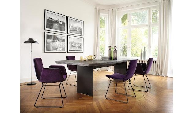 Janua - SK 04 Komposit tafel - 180 cm - Eiken gekoold/ gekalkt - Ruw staal, natuur gelakt - 90 cm - 3