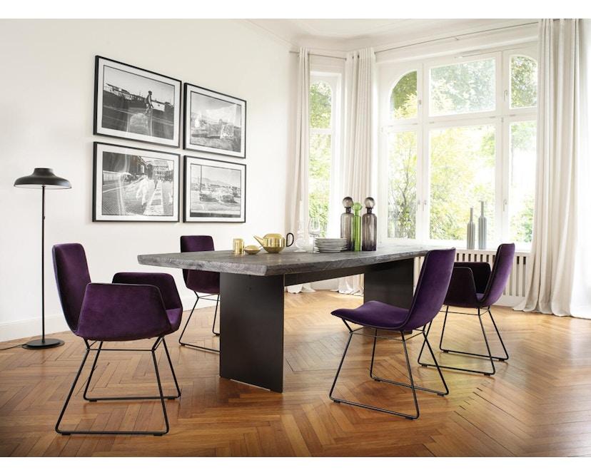 Janua - SK 04 Komposit Tisch - Eiche geköhlt/ gekalkt (Ton grau) - 180x90 - Gestell Rohstahl natur - 3