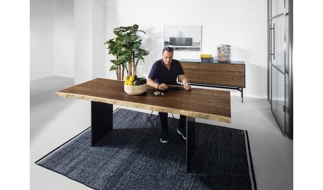 Janua - SK 04 Komposit tafel - 180 cm - Eiken gekoold/ gekalkt - Ruw staal, natuur gelakt - 90 cm - 7