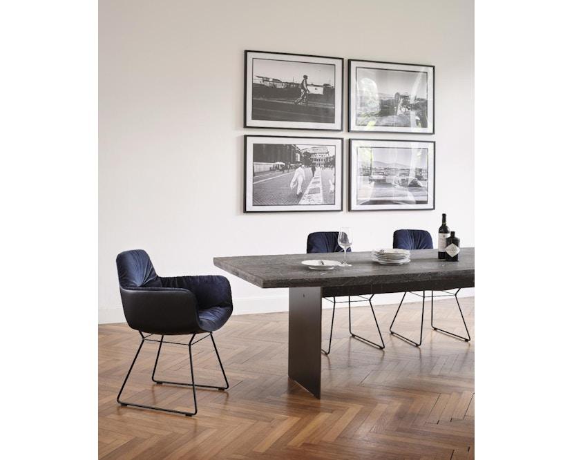 Janua - SK 04 Komposit tafel - 180 cm - Eiken gekoold/ gekalkt - Ruw staal, natuur gelakt - 90 cm - 2