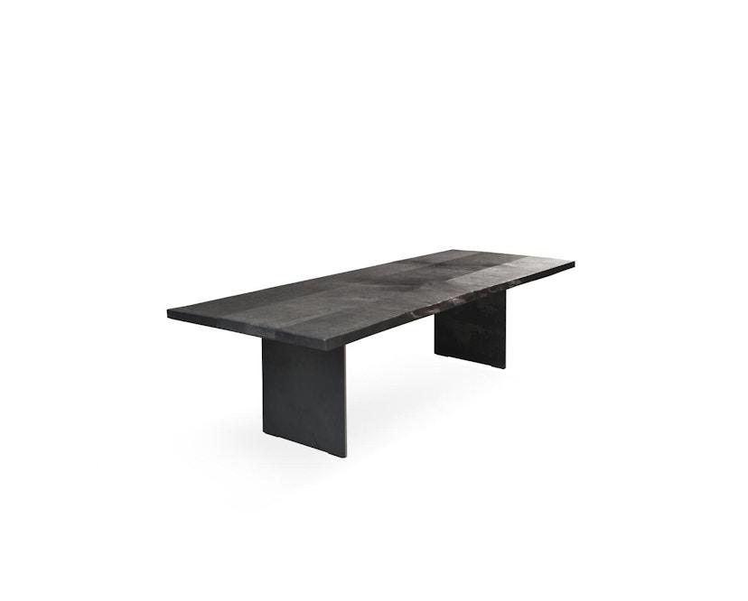 Janua - SK 04 Komposit Tisch - Eiche geköhlt/ gekalkt (Ton grau) - 180x90 - Gestell Rohstahl natur - 1