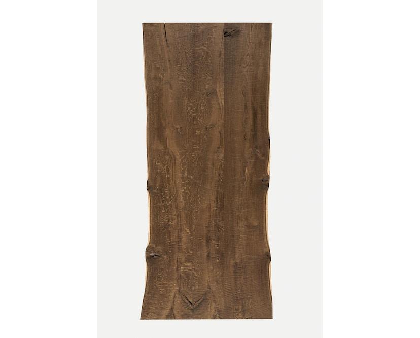 Janua - SK 04 Komposit tafel - 180 cm - Eiken gekoold/ gekalkt - Ruw staal, natuur gelakt - 90 cm - 8
