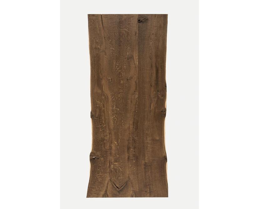 Janua - SK 04 Komposit Tisch - Eiche geköhlt/ gekalkt (Ton grau) - 180x90 - Gestell Rohstahl natur - 8