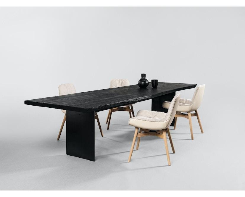 Janua - SK 08 Butterfly Tisch - Eiche geköhlt/ gekalkt (Ton grau) - Gestell Rohstahl natur - 180x90 - 3