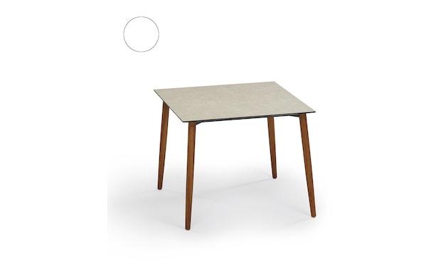 Weishäupl - Slope Tisch - quadratisch - Holzbeine - HPL weiß - 1