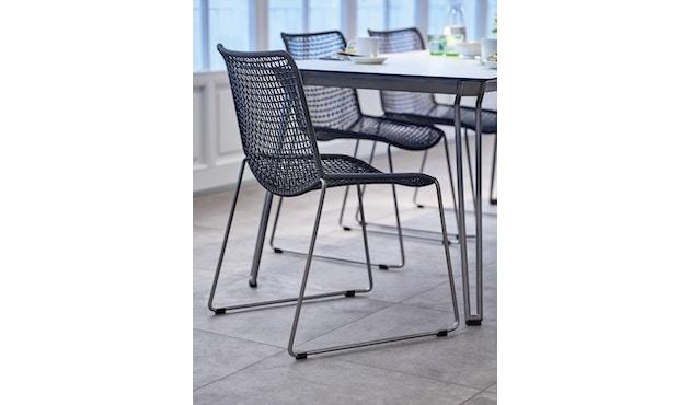 Weishäupl - Slope Tisch - quadratisch - Metallbeine - HPL weiß - 2