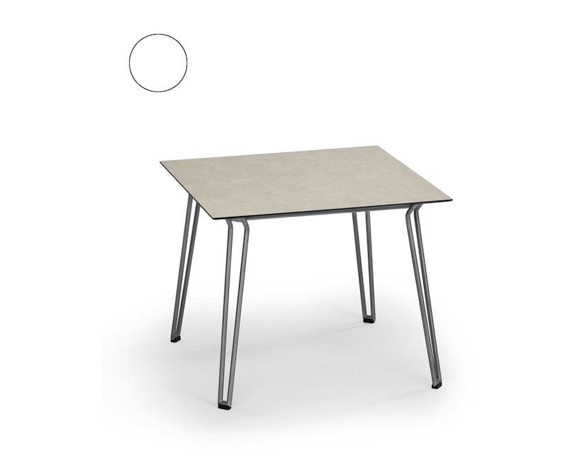 Weishäupl - Slope Tisch - quadratisch - Metallbeine - HPL weiß - 1