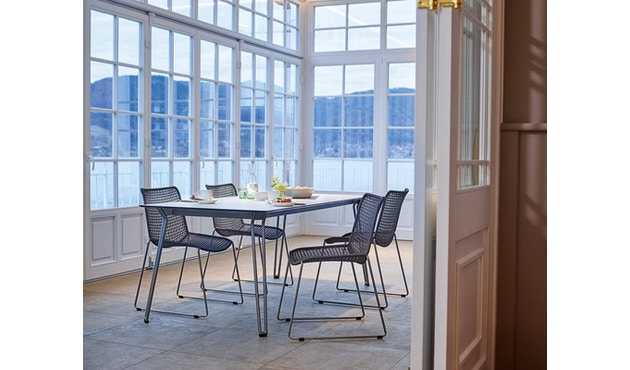 Weishäupl - Slope Tisch - rechteckig - Metallbeine - HPL weiß - 2