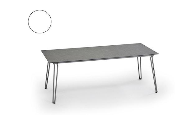 Weishäupl - Slope Tisch - rechteckig - Metallbeine - HPL weiß - 1