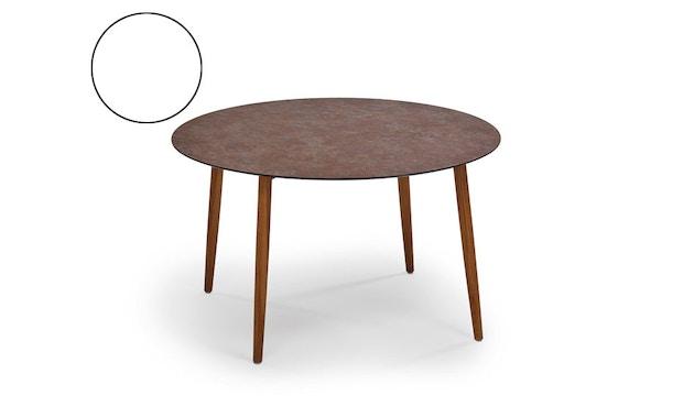 Weishäupl - Slope Tisch - rund - Holzbeine - HPL weiß - 1