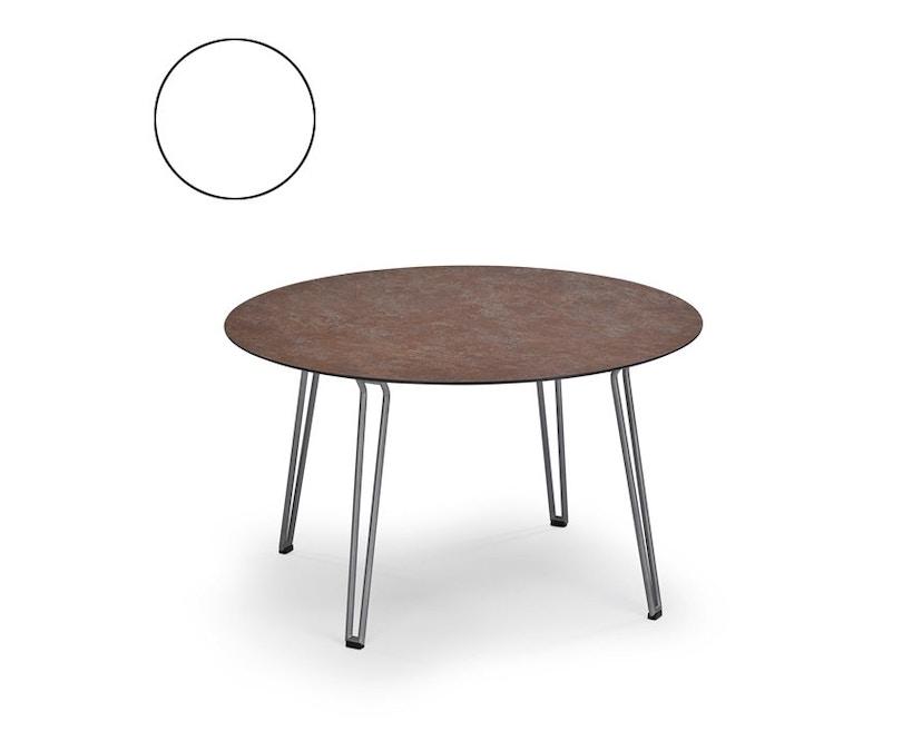 Weishäupl - Slope Tisch - rund - Metallbeine - HPL weiß - 1