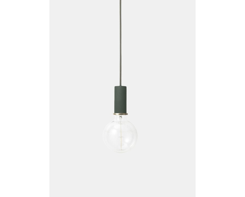 ferm LIVING - Collect Lighting - Socket  - niedrig - dunkelgrün - dunkelgrün - 6