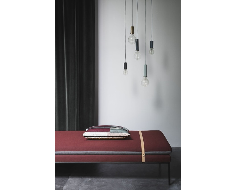 ferm LIVING - Collect Lighting - Socket  - niedrig - rotbraun - rotbraun - 7