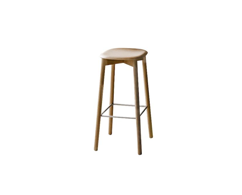 HAY - Soft Edge 32 Bar Stool - Gestell Eiche matt lackiert, Sitz Eiche matt lakiert - hoch - 0