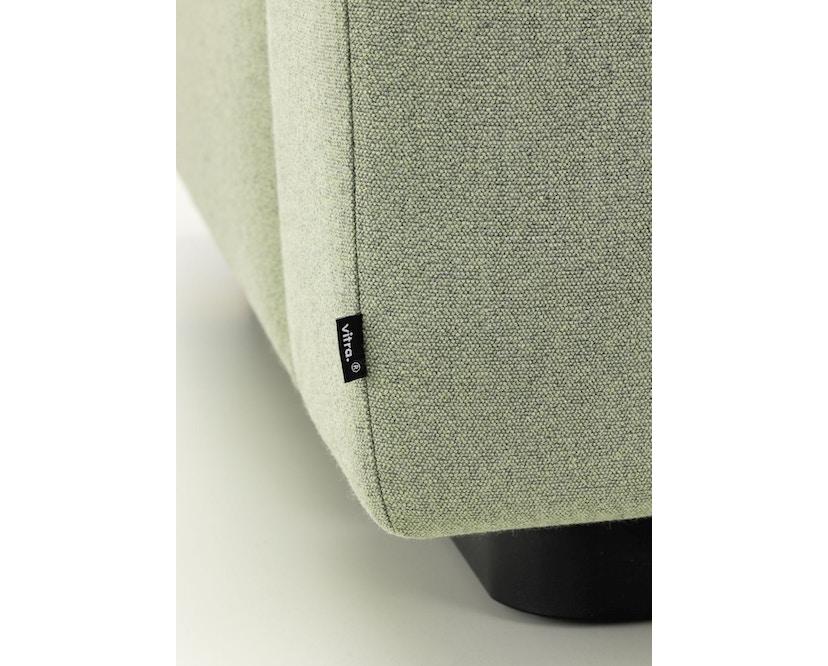Vitra - Soft Modular 2-Sitzer Sofa - Armlehne hoch - Dumet 15 salbei/kiesel - 8