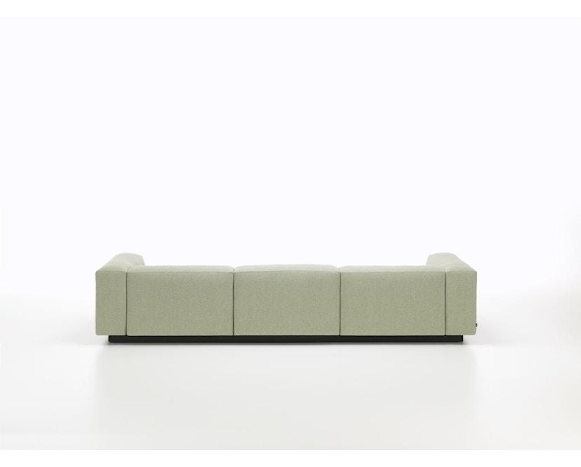 Vitra - Soft Modular 3-Sitzer Sofa - Armlehne hoch - Dumet 15 salbei/kiesel - 2