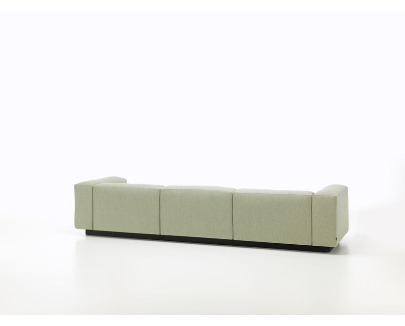 Vitra - Soft Modular 3-Sitzer Sofa - Armlehne hoch - Dumet 15 salbei/kiesel - 4