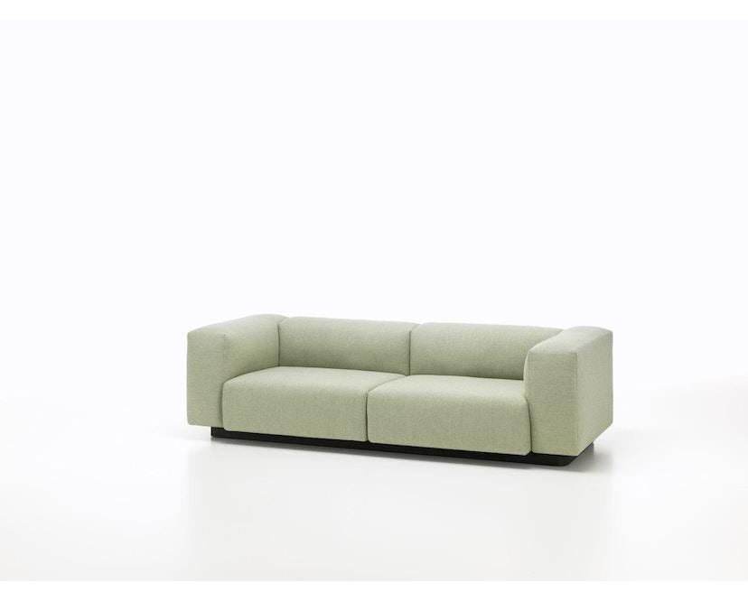 Vitra - Soft Modular 2-Sitzer Sofa - Armlehne hoch - Dumet 15 salbei/kiesel - 7