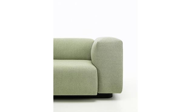 Vitra - Soft Modular 2-Sitzer Sofa - Armlehne hoch - Dumet 15 salbei/kiesel - 9