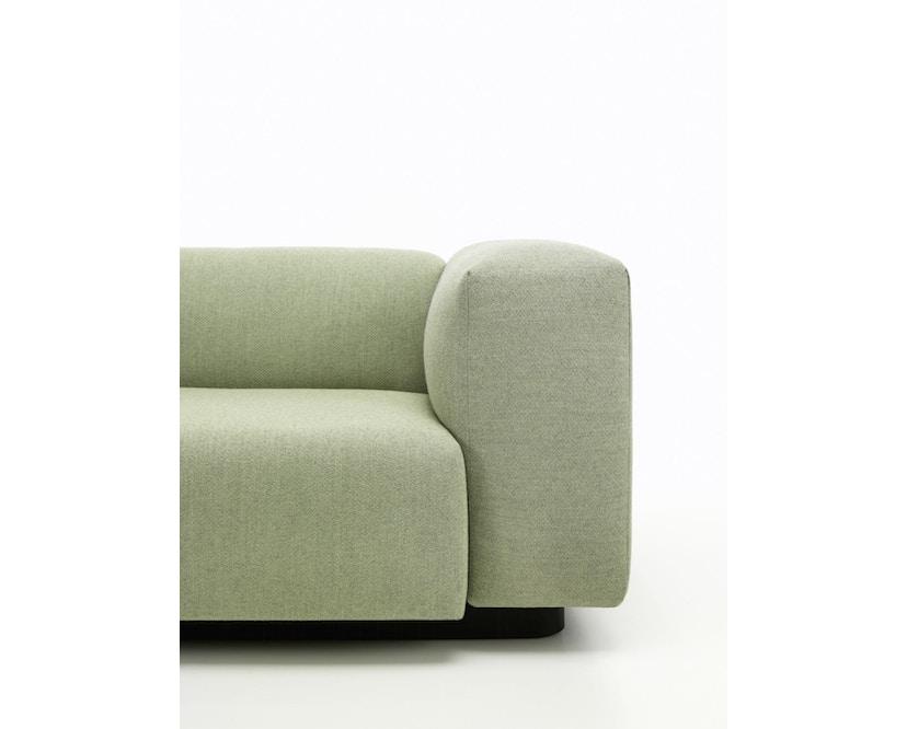 Vitra - Soft Modular 3-Sitzer Sofa - Armlehne hoch - Dumet 15 salbei/kiesel - 5