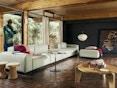 Vitra - Soft Modular 2-Sitzer Sofa - Armlehne hoch - Dumet 15 salbei/kiesel - 10