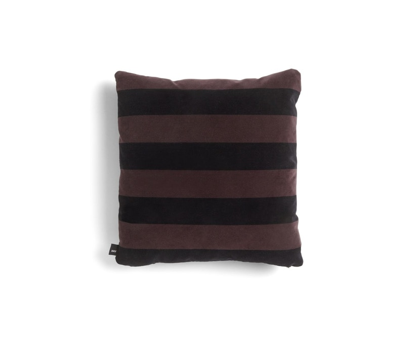 HAY - Soft Stripe Kussen - burgundy - 1