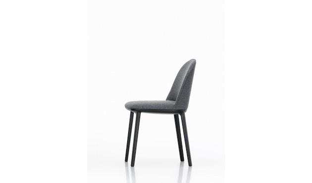 Vitra - Softshell Side Chair - Plano donkergrijs - zwart - Glijders voor harde bodems - Plano - 1